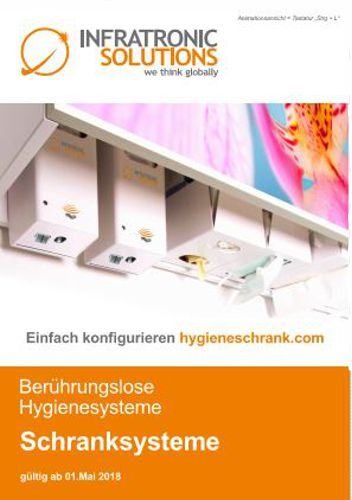 beruehrungslose hygienesysteme Schranksysteme