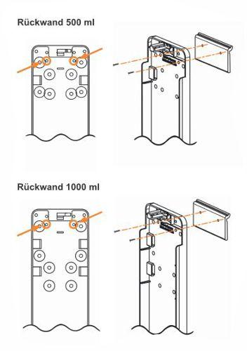 Einhangschiene für alle Spendersysteme Euro-2 Montage Anleitung