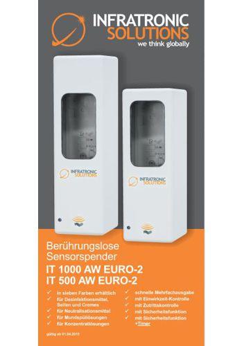 Berührungslose Sensorspende  IT 1000 AW EURO-2 und T 500 AW EURO-2