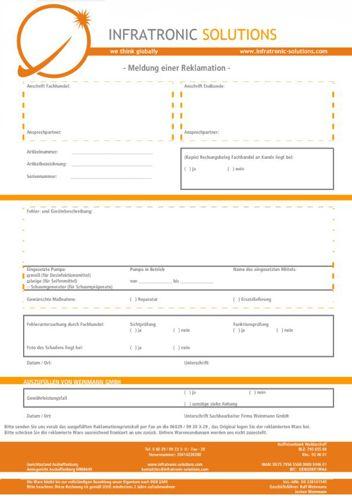 Reklamationsprotokoll Infratronic Solutions