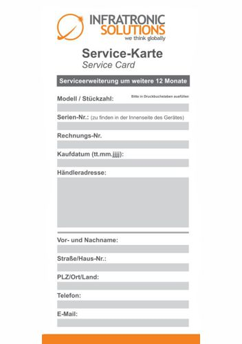Service Kartevorlage Infratronic Solutions