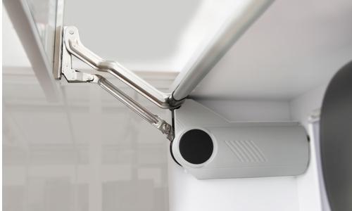 Frontklappenbeschläge Hochliftöffnung zur elektrischen Öffnung Hygieneschränke
