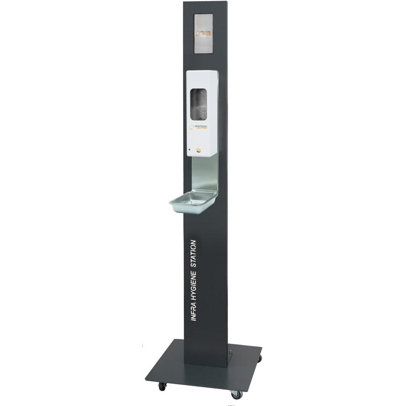 Infra Hygiene Station mit Rollen für Sensorspender