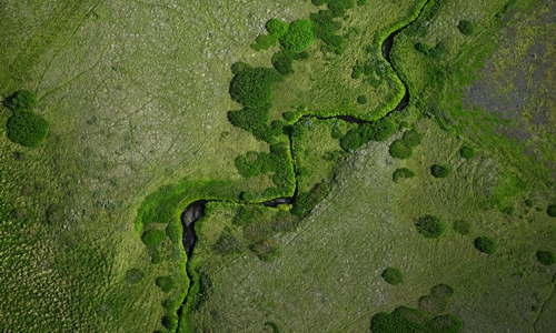Schranksysteme Digitaldruck Motiv grüne Landschaft von Infratronic Solutiuons