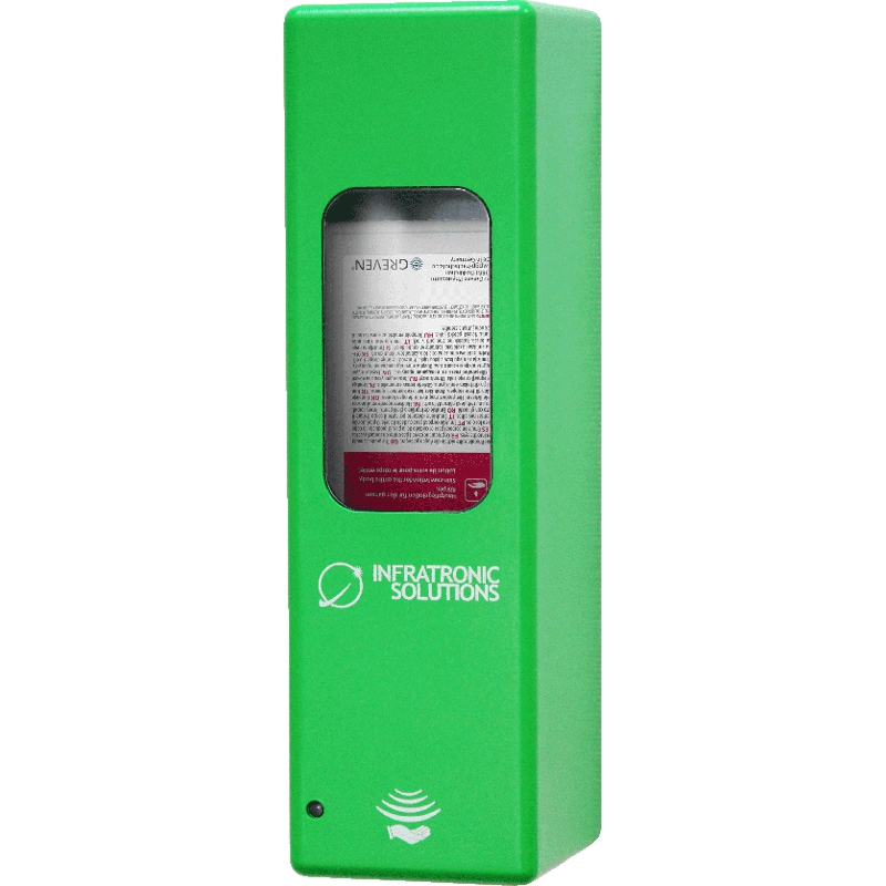 Hygienespender für Desinfektion Grün