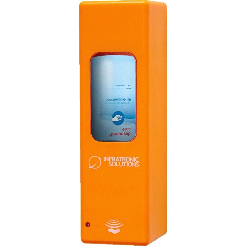 Hygienespender für Desinfektion Orange