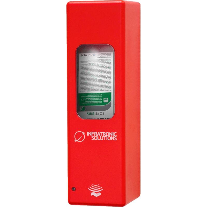 Hygienespender für Desinfektion Rot