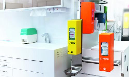 Sensorspender mit Einwirkzeiten Kontrolle Sonderfunktion