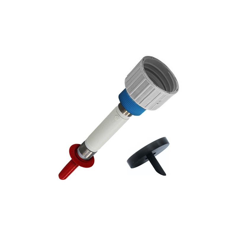 Pumpen-Adapter-Kombinationen für Euro-E-Boxen mit Klemmscheiben l2-DL Überwurf blau