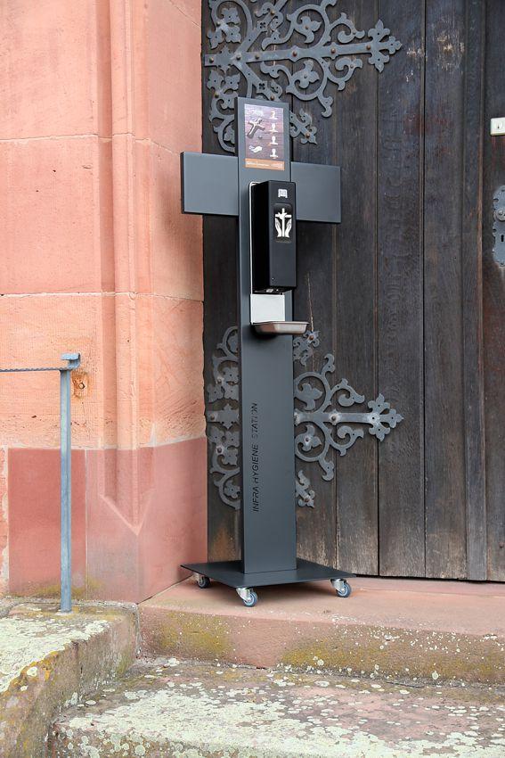 Infra Hygiene Station für Weihwasserspender Kirche
