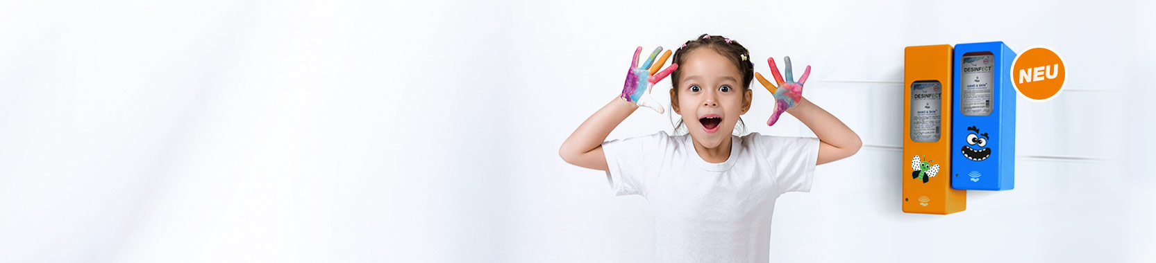 Farbige Hygienespender für Kindergärten & Kitas