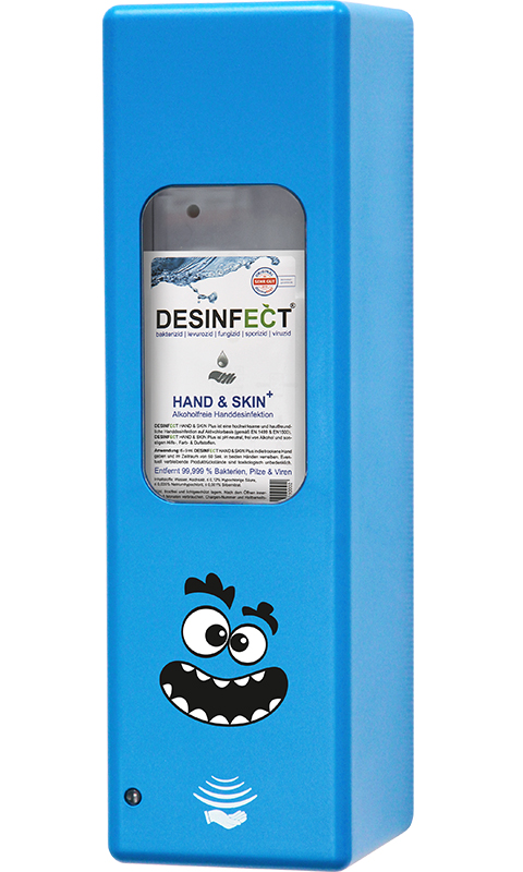 Hygienespender Blau Krümel