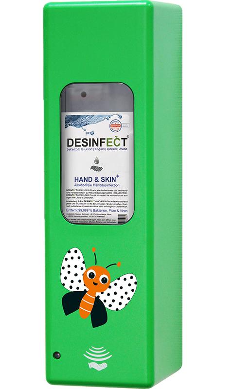 Hygienespender Grün Schmetterling