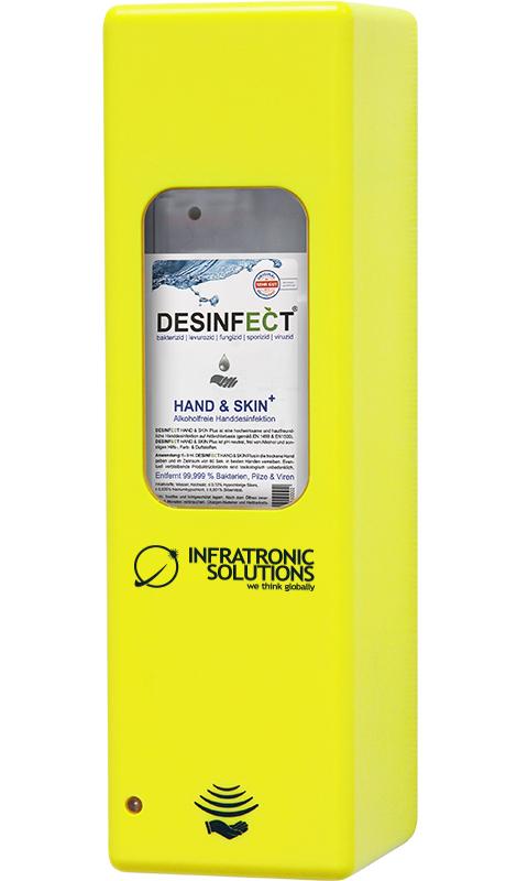 Hygienespender Gelb