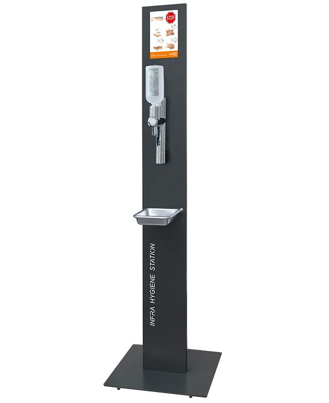 Hygienestation F-EURO mit Standfuss und Hygieneschild
