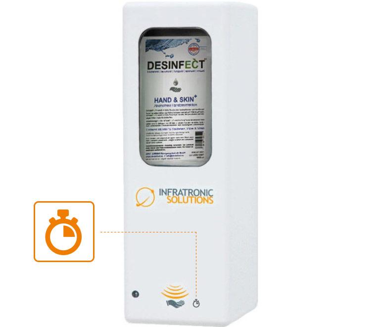 Hygienespender Sonderfunktion Einwirkzeitkontrolle