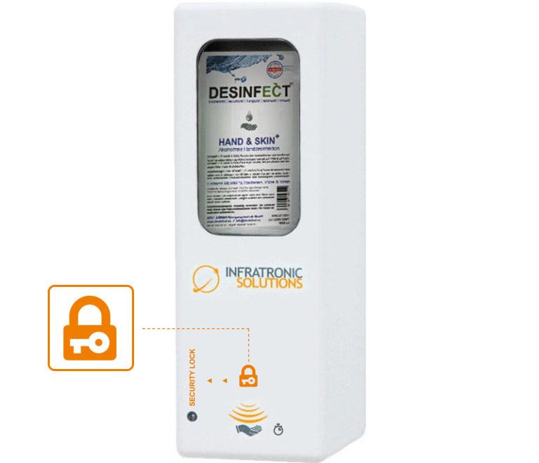 Hygienespender Sonderfunktion Sicherheitsfunktion
