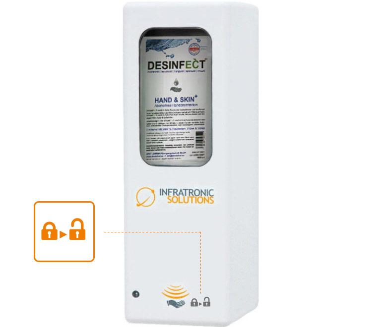 Hygienespender Sonderfunktion Zutrittskontrolle