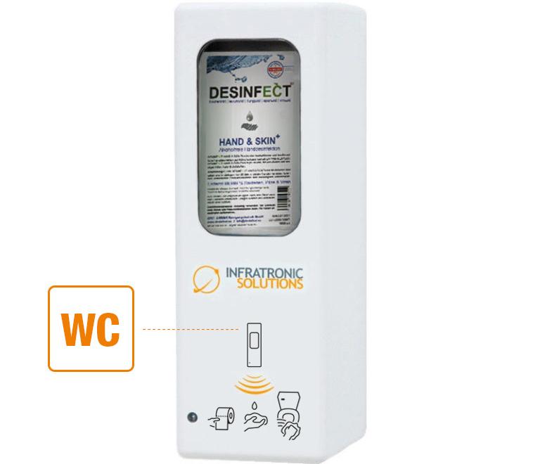 Hygienespender Sonderfunktion Toilettensitz
